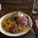My veggie-curry plate.