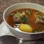 Суп Кюфта бозбаш с бараниной