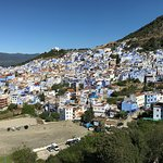 terrace view of chefchaouen. good morning!