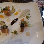 Foie gras avec sauce, délicieux!