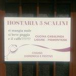 Bilde fra Hostaria 3 Scalini