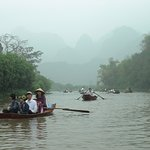 "Visiting the ""Perfume Pagoda"", Hanoi, Viet Nam , first by mini bus, then by boat."