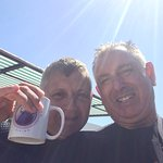 Pete and myself enjoying a well earned cup of tea
