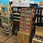 A variety of unique crafts, art and artisan work.  Focus is on handmade, NB made, with a few exceptions.   Over 80 different vendors.