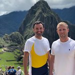 Passengers Jon and Oliver from England in MACHUPICCHU!