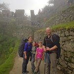 Family from USA arriving MACCHUPICCHU after Inca Trail, www.andeanspiritadventure.com