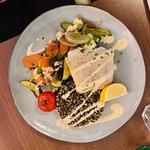 Escalope Espadon , Quinoa, et petits Légumes