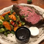 Prime Rib Dinner, Mixed Vegetables, auJus, and HorseRadish