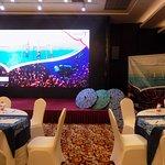 giant LED screen in the ballroom