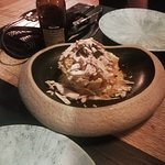 Yemas de huevo con foie y trufa