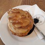 caramel and cream choux