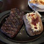 My husbands steak a ribeye