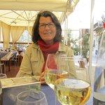 Notre table avec vin blanc