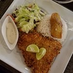 Fried sea bass was delicious.