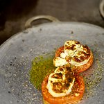 tomate confitada al queso de cabra