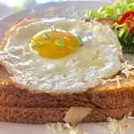 """""""Croque Madame """" toasted sandwich"""