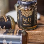 Take home a bottle of honey from Bali.