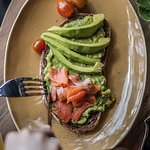 Our favorite choice at the moment. Mashed avocado toast.