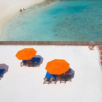 Beach area of Hulhule Island Hotel