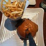 Burger and skinny fries