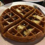 Pumpkin flavored Belgium waffle