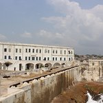 Cape Coast Castle, built by the British in 1665 and served as a transit point for transportation of enslaved Africans
