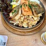 Fischpfanne mit Bratkartoffeln