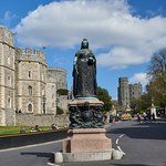 Queen Victoia Statue outside Windsor Castle
