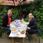 Breakfast in the Private garden.