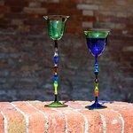 Coppe in vetro di Murano