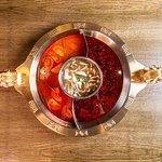 Tomato, Mushroom and Sichuan Broth