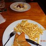 Smażony ser z frytkami ;)