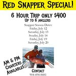 Snapper season is open for 5 days this year.  Keep one per person