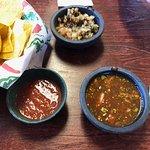 The Pico de Gallo and the Hot salsa!
