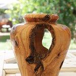 olive wood creatiions by Stamatis at lemon garden restaurant more at www.lemongardencorfu.com