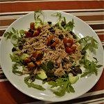 Lettuce salad with tuna fish...the healthy.