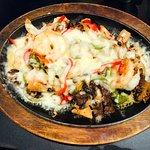 Shrimp, chicken & beef fajita combo was delicious