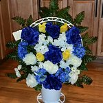 Silk Basket Arrangment