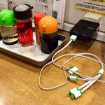 卓上調味料+携帯充電コード