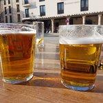 Having a beer at Casa Galin