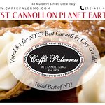 There's a reason why Caffé Palermo was voted BEST Cannoli in NYC! Some even say we have the BEST Cannoli on planet earth! Visit us today or call 212-431-4205 to place an order. Local & nationwide delivery available.