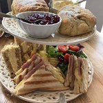 Afternoon tea from kettle and cake