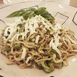 homemade fresh tagliolini pasta