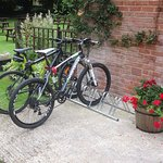 Executive bicycle parking at the Cock Inn, Sarratt is popular with the many cycling groups that visit. There are some great rides around the area including the popular Chess Valley