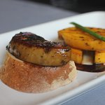Foie gras with mango and martini wine