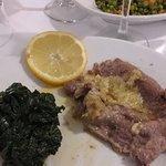 Scaloppine al limine e spinaci
