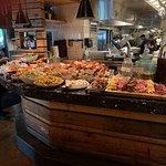The buffet bar