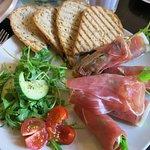 Ham with Sheep's Cheese salad