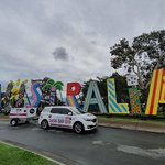 Photo of the Australia sign from expo 88 which is now located in Caboolture