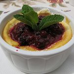 Tradition Polish Cheese Pie with Forest Fruits